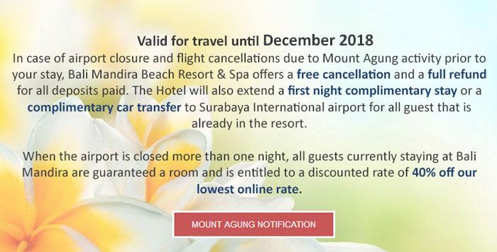 Mount Agung Notification