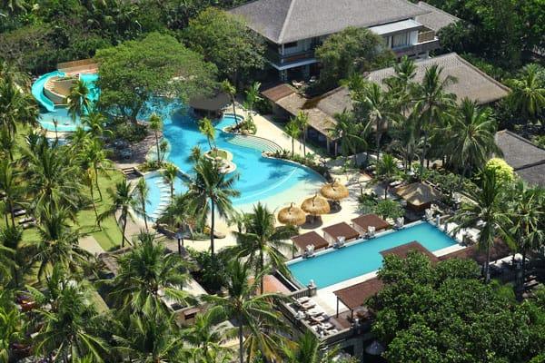 swimming pool aerial photo