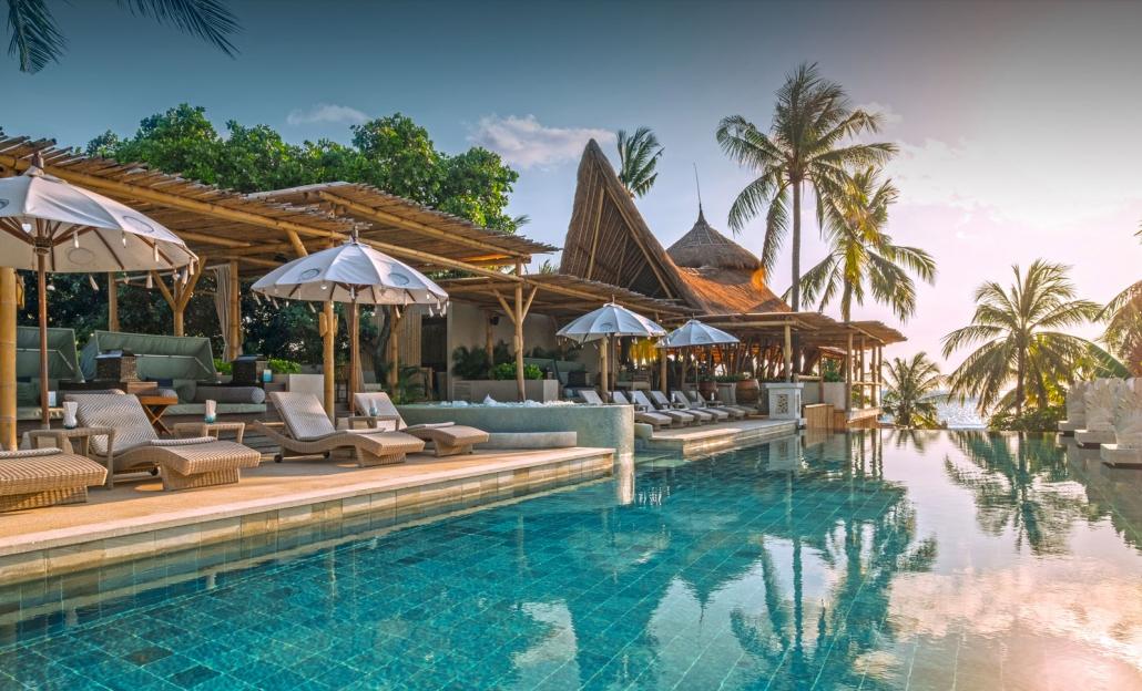 beach pool with azul
