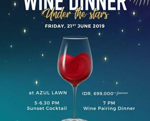 wine dinner azul