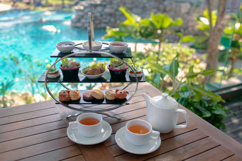 Afternoon tea at Bali Mandira Suling Lounge