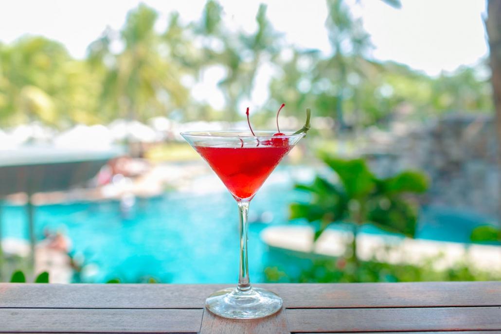 Irresistible cocktail at Bali Mandira Suling Lounge