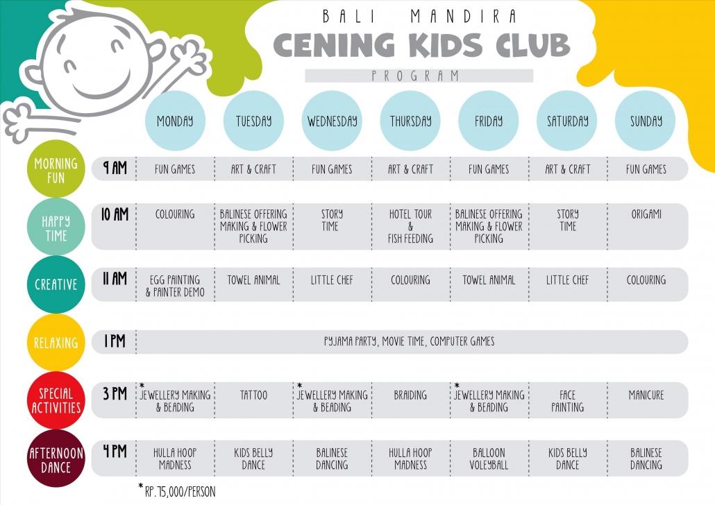 kids club program