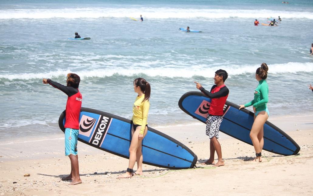 bali surfing lesson 2